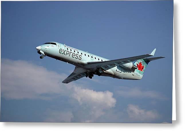 Air Canada Express Bombardier Crj-200er Greeting Card