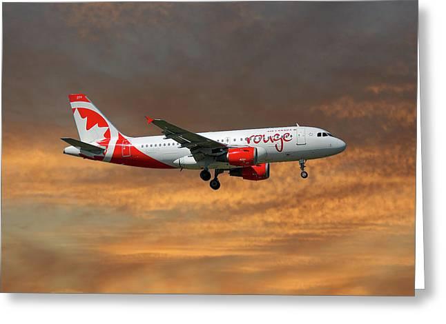 Air Canada Rouge Airbus A319-114 3 Greeting Card