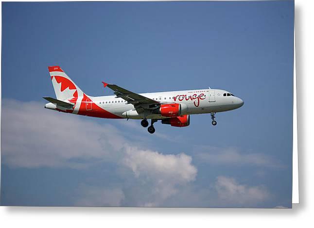 Air Canada Rouge Airbus A319-114 4 Greeting Card