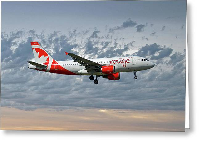 Air Canada Rouge Airbus A319-114 Greeting Card