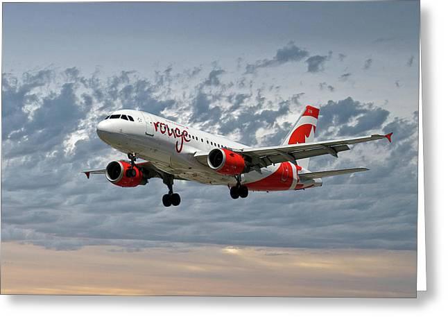 Air Canada Rouge Airbus A319 Greeting Card