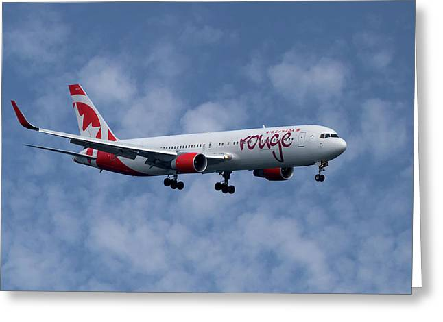 Air Canada Rouge Boeing 767-333 1 Greeting Card