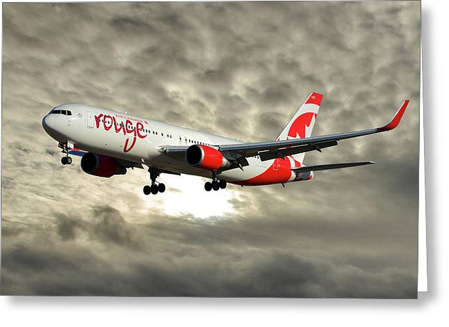 Air Canada Rouge Boeing 767-333 115 Greeting Card