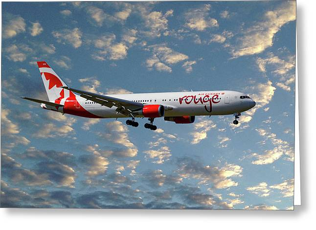 Air Canada Rouge Boeing 767-35h 119 Greeting Card
