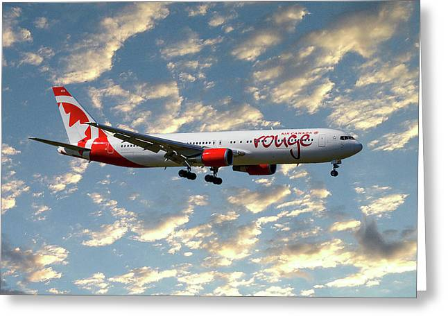 Air Canada Rouge Boeing 767-35h 120 Greeting Card