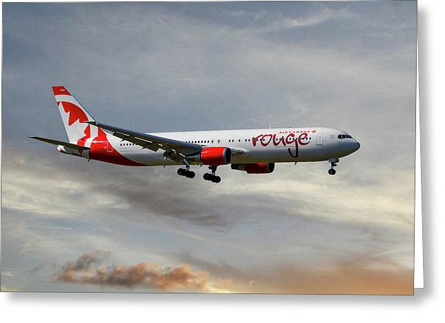 Air Canada Rouge Boeing 767-35h 121 Greeting Card