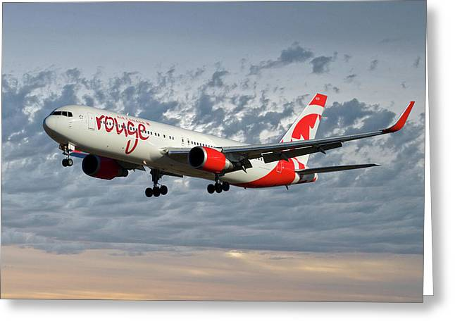 Air Canada Rouge Boeing 767-333 113 Greeting Card