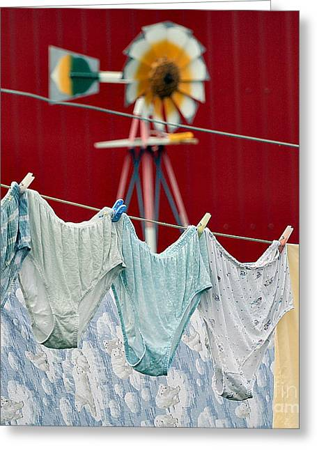Greeting Card featuring the photograph Air Drying by Jan Piller