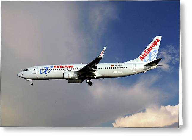 Air Europa Boeing 737-85p Greeting Card
