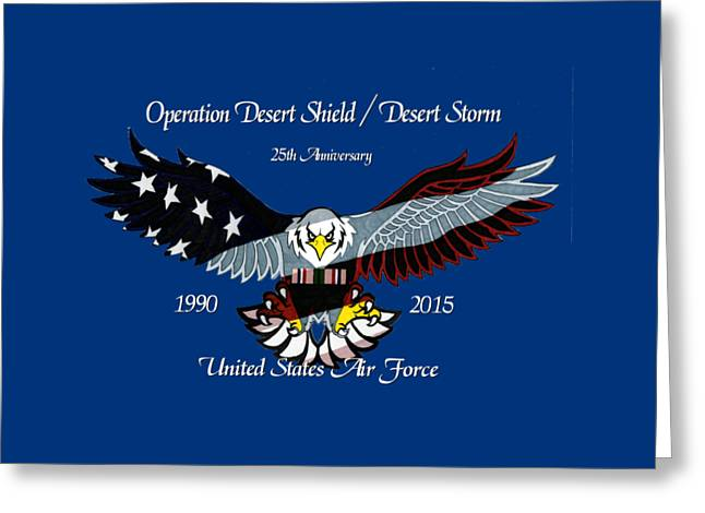 Air Force Desert Storm Greeting Card
