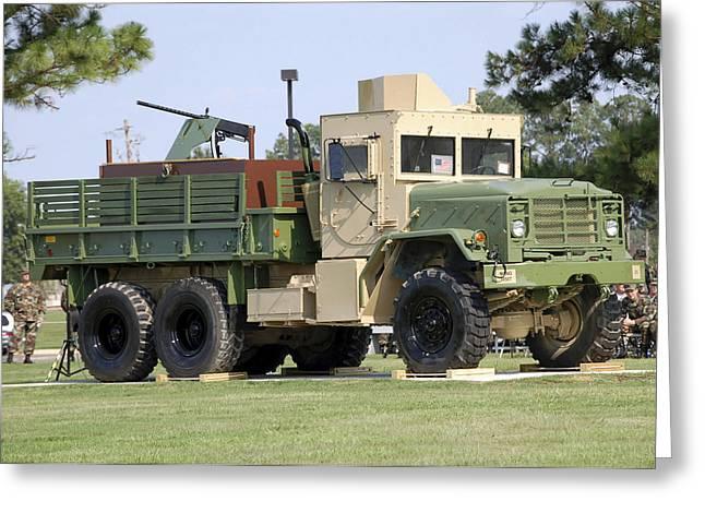 Stocktrek Images - Greeting Cards - Air Force Gun Truck Greeting Card by Stocktrek Images
