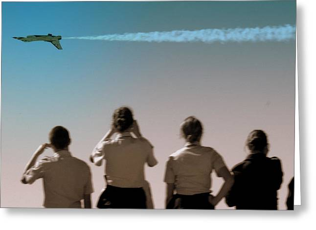 Greeting Card featuring the photograph Air Force In Force by Karen Musick