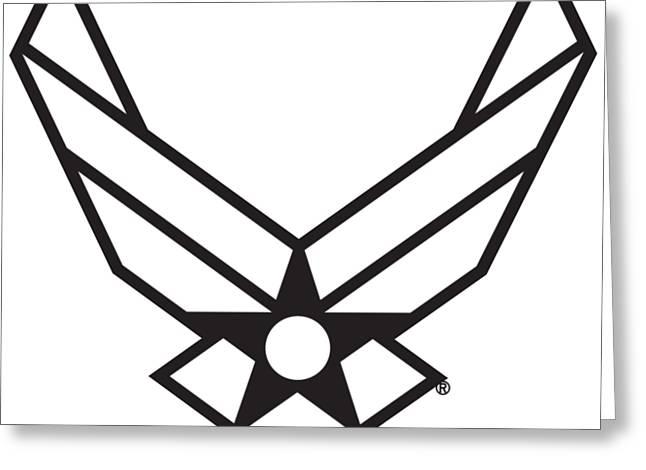 Air Force Logo Greeting Card