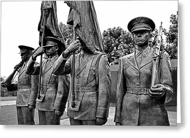 Air Force Memorial - Honor Guard Sculpture Greeting Card by Brendan Reals
