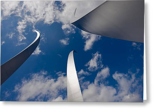 Air Force Memorial Greeting Card by Louise Heusinkveld