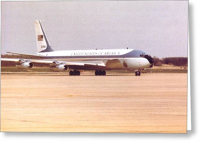 Air Force One At Andrews Air Force Base Greeting Card