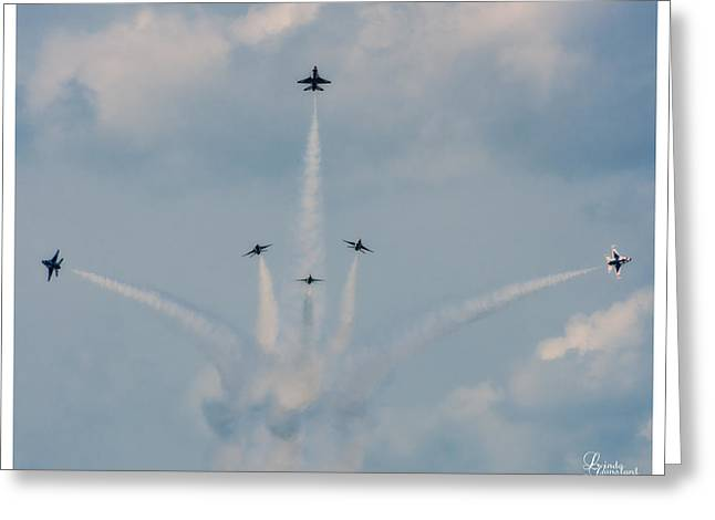 Air Force Thunderbirds Greeting Card by Linda Constant