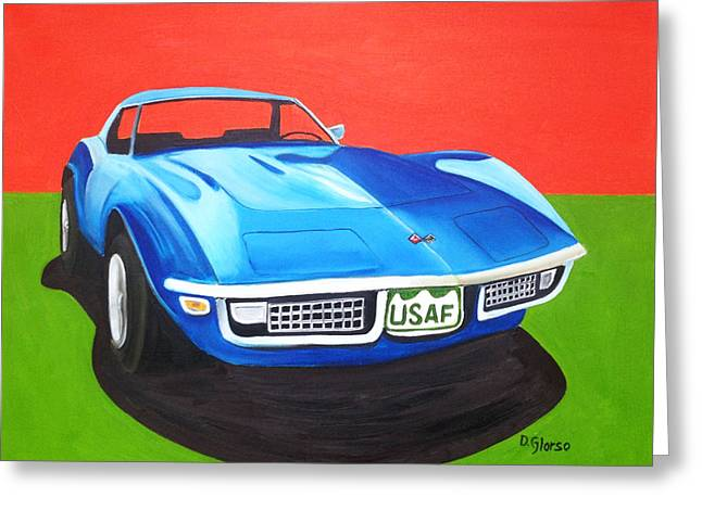 Air Force Vette Greeting Card