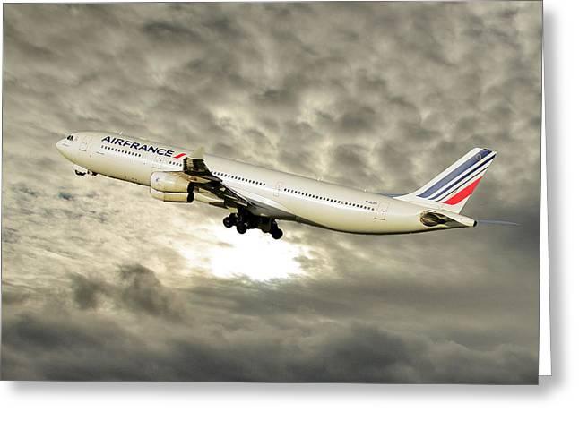 Air France Airbus A340-313 115 Greeting Card
