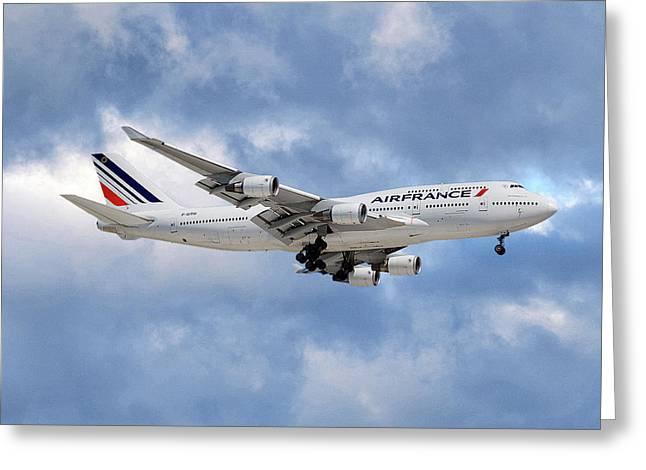 Air France Boeing 747-428 118 Greeting Card