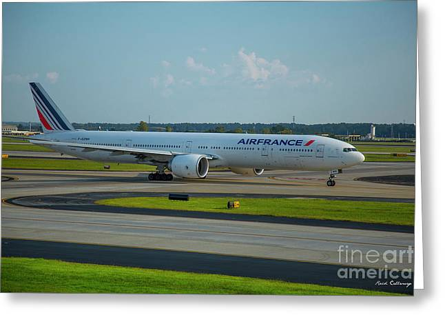 Air France Boeing 777-328er F-gznh Departing Hartsfield-jackson Atlanta International Airport Art Greeting Card
