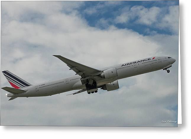 Air France Boeing 777 Number F-gzni Airplane Art Greeting Card