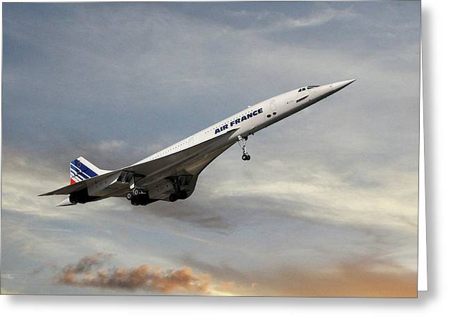 Air France Concorde 122 Greeting Card