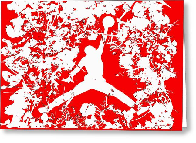 Air Jordan 1f Greeting Card