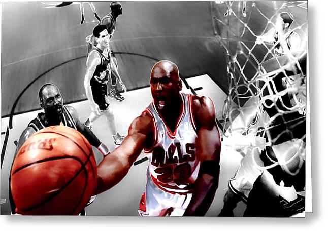Air Jordan 5g Greeting Card by Brian Reaves