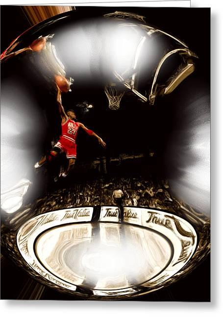 Air Jordan Bubble Greeting Card by Brian Reaves