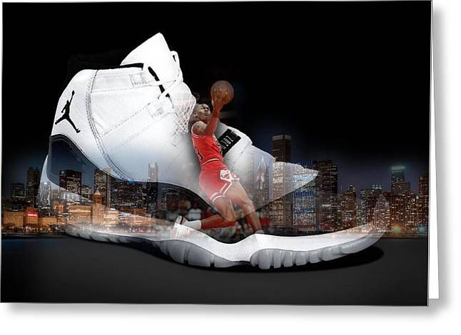 Air Jordan Chicago Greeting Card by Britten Adams
