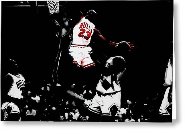 Air Jordan Gimme Dat Greeting Card by Brian Reaves