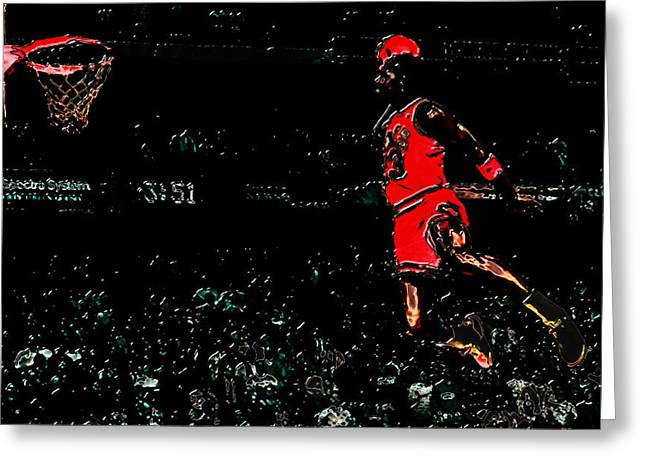 Air Jordan In Flight 3g Greeting Card by Brian Reaves