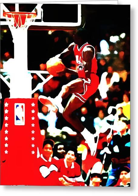 Air Jordan In Flight 5b Greeting Card