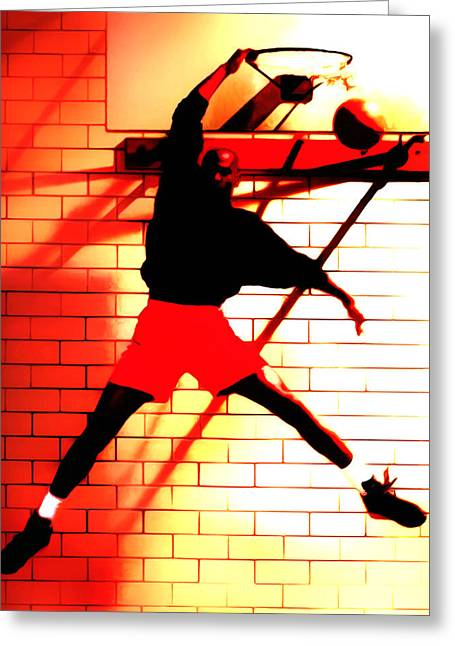 Air Jordan Where It All Started Greeting Card by Brian Reaves