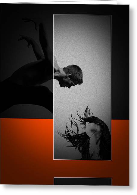 Dancing Girl Greeting Cards - Air Kiss Greeting Card by Naxart Studio