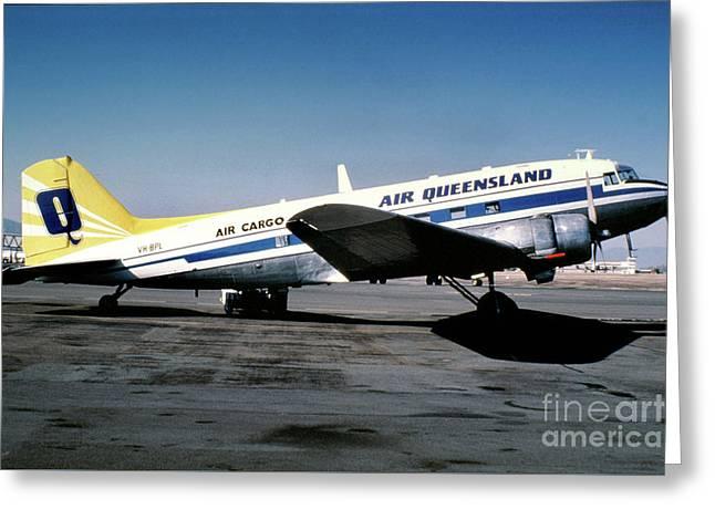 Air Queensland Douglas C-47a-20-dk, Vh-bpl Greeting Card by Wernher Krutein