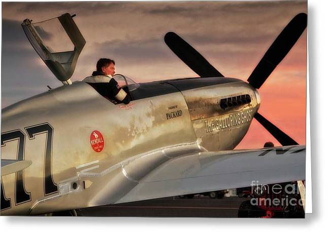 'air Racing Legends Jimmy Leeward And  The Galloping Ghost' Greeting Card