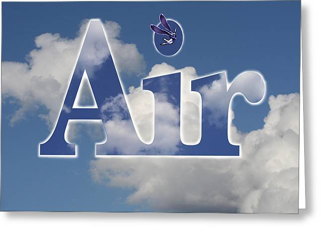 Air Title Greeting Card by Alma