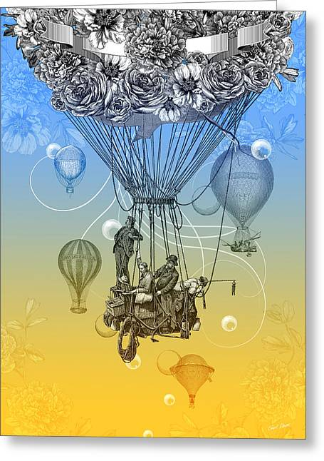 Air Travel Greeting Card by Denys Golemenkov