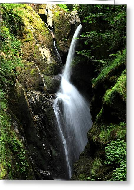 Aira Force Waterfall Greeting Card by Martin Newman