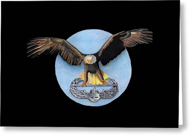 Airborne Greeting Card by Bill Richards