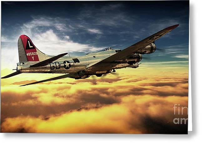 Airborne Fortress Greeting Card by J Biggadike
