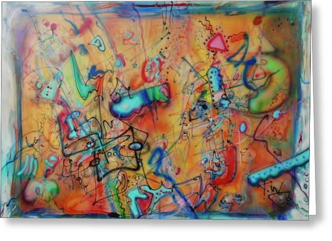 Digital Landscape, Airbrush 1 Greeting Card
