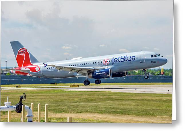 Airbus A320 Boston Strong Greeting Card