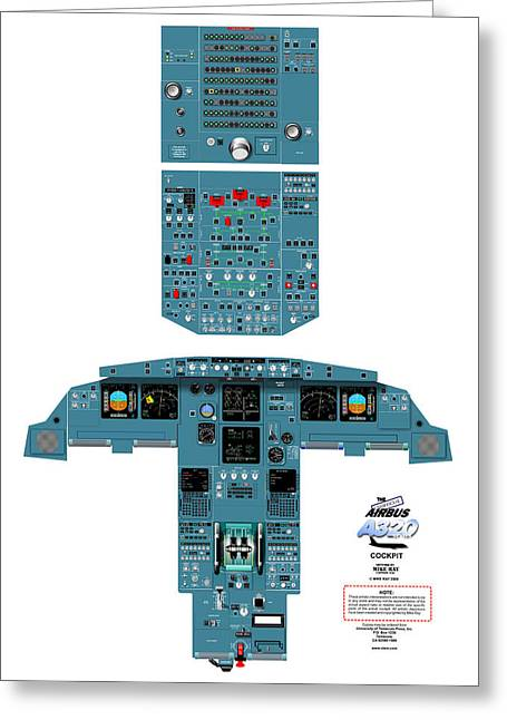 Airbus A320 Cockpit Greeting Card