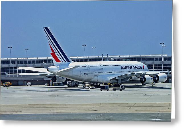Airbus A380 Air France Greeting Card