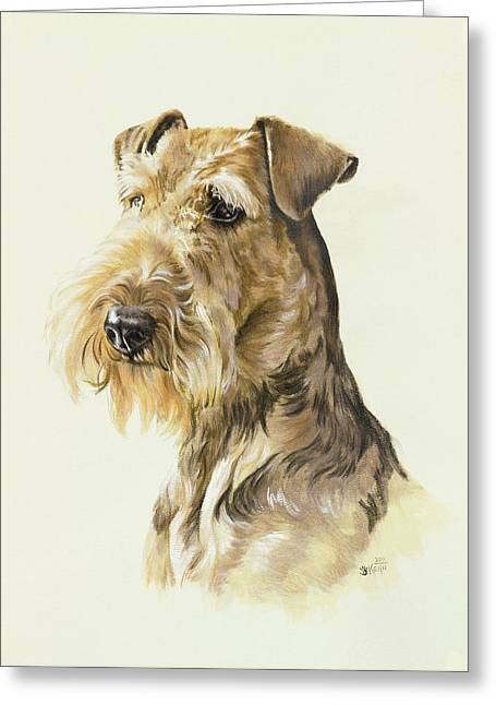 Airedale In Watercolor Greeting Card