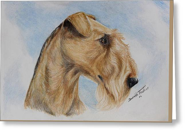 Airedale Terrier Greeting Card by Daniele Trottier