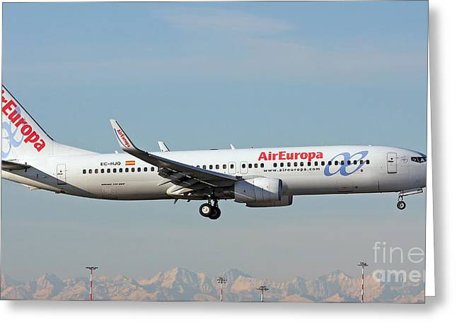 Aireuropa - Boeing 737-800 - Ec-hjq  Greeting Card